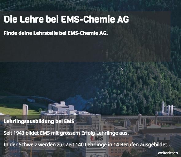 Die Ems Chemie ist ein Vorzeige-Unternehmen in Sachen Lehrstellen-Besetzung.