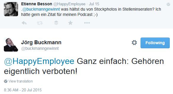 Buckmann zu Stockphotos - Twitter - HRtoday Minutes